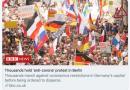 """欧洲多国爆发反新冠游行,称新冠病毒是""""骗局"""""""